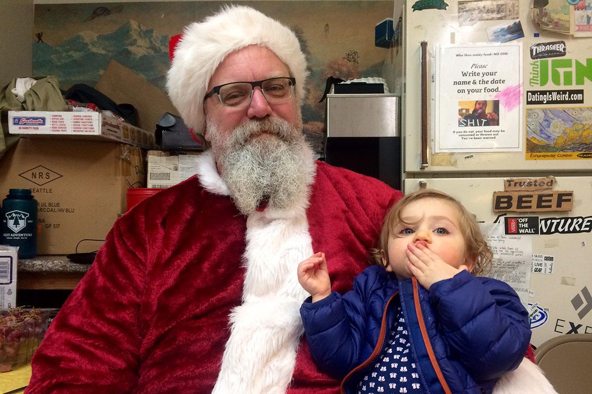 Santa At The Great Sock Giveaway