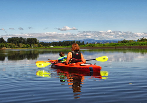 Kayaking Scappoose Bay