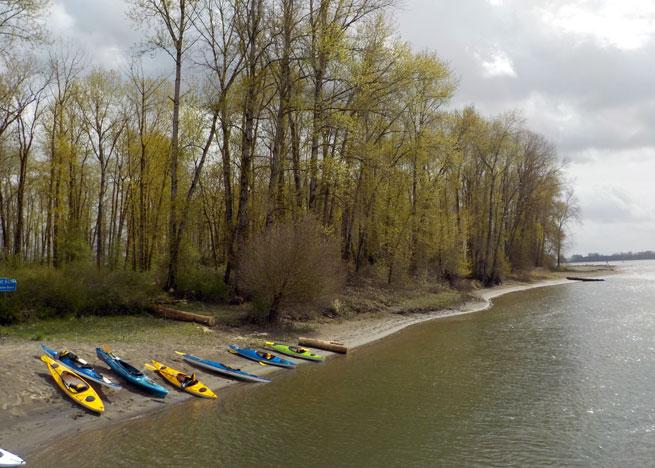 Sand Island Kayak Camping