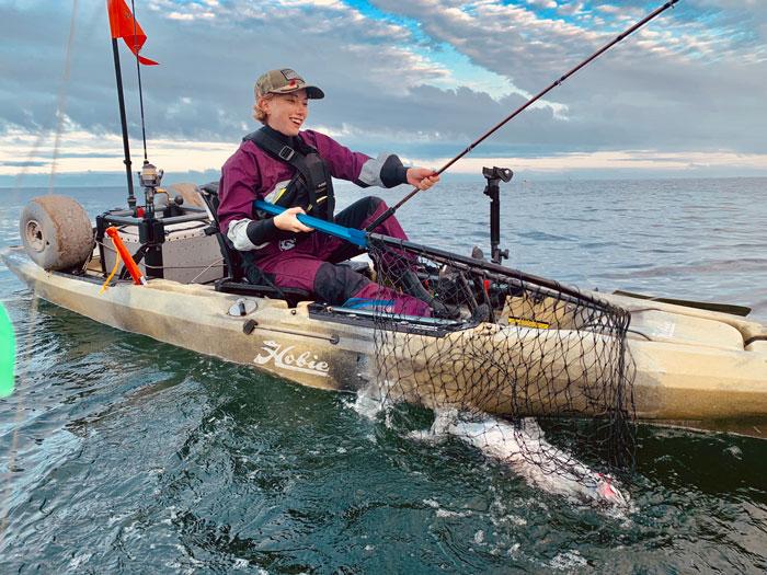 Kayak fishing the Pacific